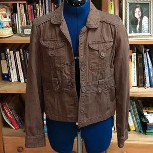 Mossimo Crop  Size L Blazer Cotton Jacket (H)